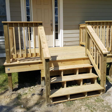 deck construction repairs